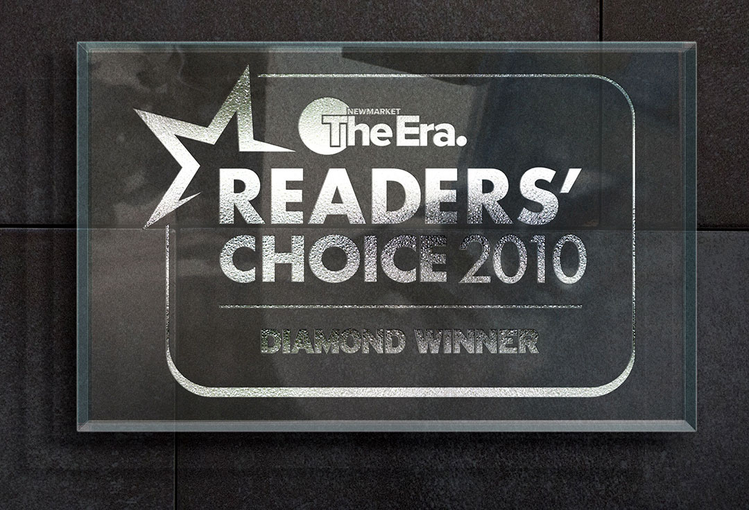 2010 Readers Choice Plaque